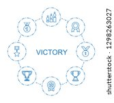 victory icons. trendy 8 victory ... | Shutterstock .eps vector #1298263027