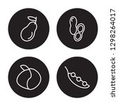 4 linear vector icon set   pear ... | Shutterstock .eps vector #1298264017