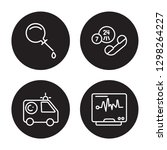 4 linear vector icon set  ... | Shutterstock .eps vector #1298264227