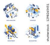 modern flat isometric designed... | Shutterstock .eps vector #1298265451