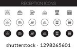 reception icons set. collection ... | Shutterstock .eps vector #1298265601