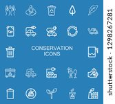 editable 22 conservation icons... | Shutterstock .eps vector #1298267281