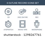 record icons. trendy 6 record... | Shutterstock .eps vector #1298267761