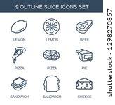 9 Slice Icons. Trendy Slice...