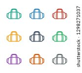 sport bag icon white background.... | Shutterstock .eps vector #1298271037