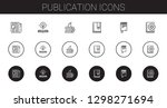 publication icons set.... | Shutterstock .eps vector #1298271694
