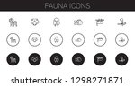 fauna icons set. collection of... | Shutterstock .eps vector #1298271871