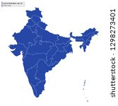 india map with regions vector... | Shutterstock .eps vector #1298273401