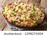 portion of ditalini pasta with... | Shutterstock . vector #1298274304