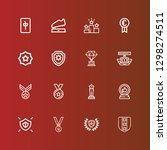 editable 16 honor icons for web ... | Shutterstock .eps vector #1298274511