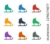ice skate icon white background.... | Shutterstock .eps vector #1298274877