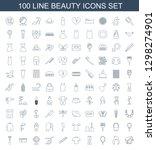 beauty icons. trendy 100 beauty ... | Shutterstock .eps vector #1298274901