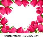 pink fresh spring flowers... | Shutterstock .eps vector #129827624