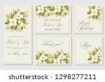 wedding invitation  floral...   Shutterstock .eps vector #1298277211