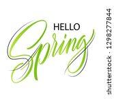 spring lettering web banner... | Shutterstock .eps vector #1298277844