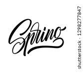 spring lettering web banner... | Shutterstock .eps vector #1298277847