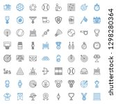 competition icons set.... | Shutterstock .eps vector #1298280364