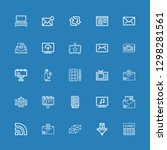 editable 25 news icons for web...