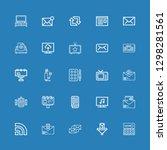 editable 25 news icons for web...