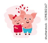 valentine's day greeting card.... | Shutterstock .eps vector #1298282167