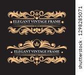 vintage elements on a black... | Shutterstock .eps vector #1298285071