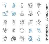 leaf icons set. collection of... | Shutterstock .eps vector #1298287894