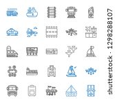 passenger icons set. collection ... | Shutterstock .eps vector #1298288107