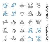 robotic icons set. collection... | Shutterstock .eps vector #1298290261