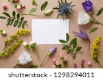 blank paper decorated with... | Shutterstock . vector #1298294011