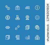 editable 16 bet icons for web... | Shutterstock .eps vector #1298305834