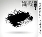 black brush stroke and... | Shutterstock .eps vector #1298308741