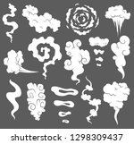 bad smell. smoke clouds. steam... | Shutterstock .eps vector #1298309437