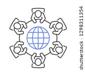 global business meeting icon.... | Shutterstock .eps vector #1298311354
