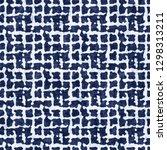 damaged grid indigo dyed effect ... | Shutterstock . vector #1298313211