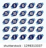 zero to one hundred percent ...   Shutterstock .eps vector #1298313337