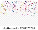 colorful confetti and ribbon... | Shutterstock .eps vector #1298326294