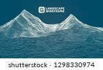abstract wireframe background....   Shutterstock .eps vector #1298330974