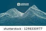 abstract wireframe background....   Shutterstock .eps vector #1298330977