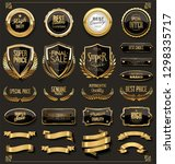 retro badges and labels golden... | Shutterstock .eps vector #1298335717