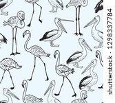 seamless pattern of cartoon...   Shutterstock .eps vector #1298337784
