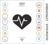 heart with ecg wave  ... | Shutterstock .eps vector #1298344864