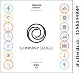 logotype   two spirals in... | Shutterstock .eps vector #1298344984