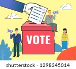 vote  election concept. people... | Shutterstock .eps vector #1298345014