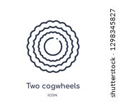 linear two cogwheels icon from... | Shutterstock .eps vector #1298345827