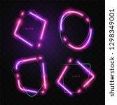 abstract neon banner | Shutterstock .eps vector #1298349001