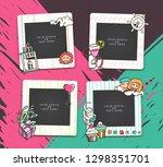 cartoon art styles. decorative...   Shutterstock .eps vector #1298351701