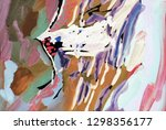 bright multi colored painting ...   Shutterstock . vector #1298356177