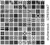 Stock vector  geometric seamless patterns set black and white vector backgrounds collection 129835667