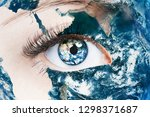 close up image of human eye... | Shutterstock . vector #1298371687