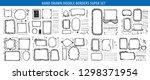 hand drawn line border frame... | Shutterstock .eps vector #1298371954